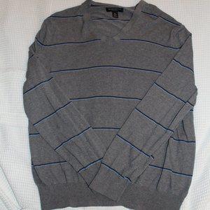 Men's Banana Republic grey stripe sweater